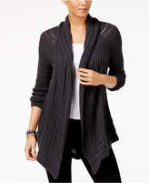 Style&Co. Style & Co Asymmetrical Pointelle Cardigan, Created for Macy's
