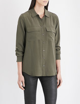 AG Jeans Ladies Climbing Ivy Pocket Detail Button fastening The Alena Silk-Crepe Shirt
