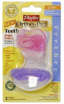 Playtex Baby Ortho-Pro Teether 3-10M: Pink-Purple