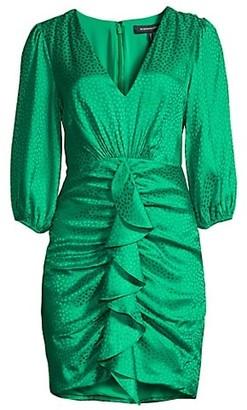 BCBGMAXAZRIA Eve Draped Mini Dress