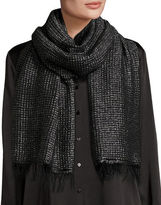 Eileen Fisher Lustrous Metallic Wool-Blend Wrap