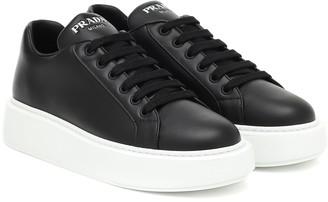 Prada Leather platform sneakers