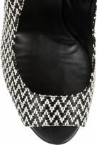 Castaner Karen raffia and patent-leather wedge slingbacks