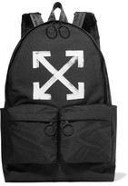Off-White Printed Canvas Backpack - Black