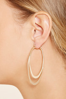 Forever 21 Tiered Oval Earrings