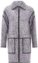 Kenzo Women's Laquered Sand Cotton Jacquard Jacket Glycine