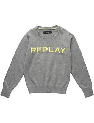 Replay Boy's Sb5051.050.g21280t Jumper, (Grey Melange M), (Size: 16A)