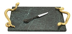 Michael Aram Rainforest Cheese Board with Knife