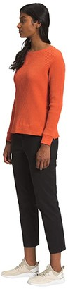 The North Face Long Sleeve Chabot Crew (Burnt Ochre) Women's Long Sleeve Pullover