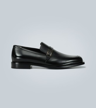 Fendi Leather loafers with logo