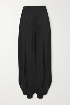 Alexandre Vauthier Pleated Wool Wide-leg Pants - Black