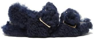 Marni Buckled-strap Shearling Sandals - Black