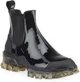 Moncler Hanya Patent Chelsea Boots