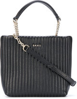 DKNY quilted pinstripe tote - women - Leather - One Size