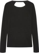 Diane von Furstenberg Kylee Open-back Merino Wool And Silk-blend Sweater - Black