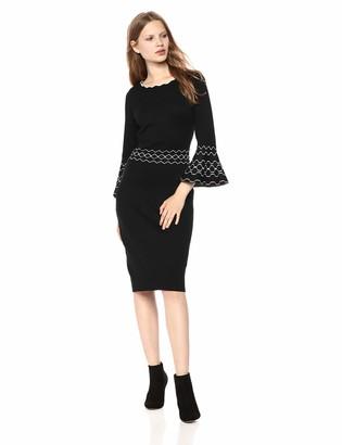 Gabby Skye Women's 3/4 Sleeve Scoop Neck Sweater Sheath Dress
