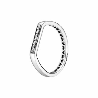 Pandora Sterling Silver Sparkling Stacking Ring in Silver Size P
