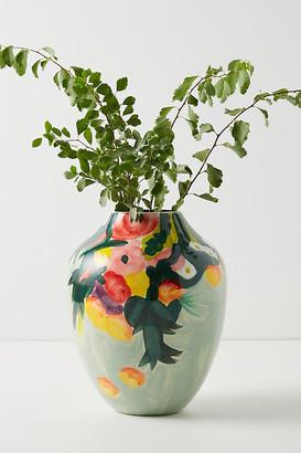 Anthropologie Lizzie Vase By in Green Size L