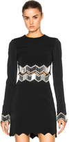 David Koma Embroidered Top in Black.