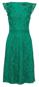 Dorothy Perkins Womens Green Lace 'Taylor' Midi Dress, Green