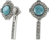 Rebecca Minkoff Halo Stud Front with Linear Stick Back Earrings
