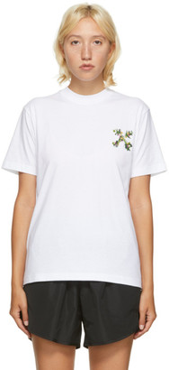 Off-White White Embroidered Mini Arrow T-Shirt