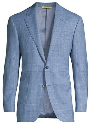 Canali Houndstooth Plaid Virgin Wool Sportcoat