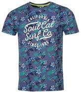 Soul Cal SoulCal AOP Large Logo T Shirt Mens