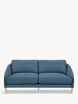 John Lewis & Partners Cape Large 3 Seater Sofa, Light Leg, Hatton Dark Pacific
