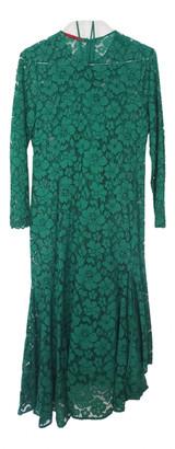 Carolina Herrera Green Lace Dress for Women