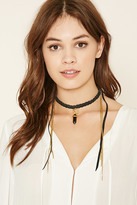 Forever 21 FOREVER 21+ Ettika Layered Leather Necklace
