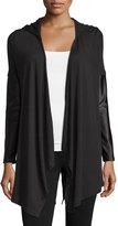 Koral Activewear Hooded Panel-Sleeve Cardigan, Black
