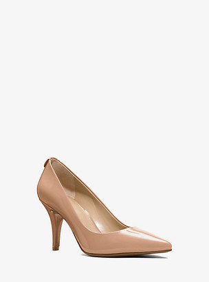 MICHAEL Michael Kors MK Flex Patent Leather Mid-Heel Pump - Nude - Michael Kors