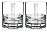 Rogaska Fan Club Double Old-Fashioned Glass, Set of 2