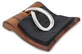 Nambe Breeze Acacia Wood & Stainless Steel Napkin Holder