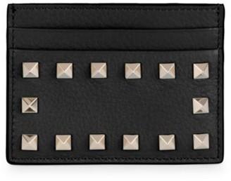 Valentino Rockstud Leather Card Holder