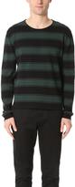 Ami Striped Crew Neck Sweater
