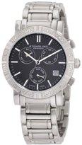 Stuhrling Original Women's 315L.12111 Symphony Regent Swiss Chronograph Genuine Diamond Black Dial Watch