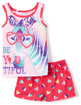 Komar Kids Red 'Be You Tiful' Zebra Pajama Set - Girls
