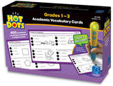 Educational Insights Hot Dots Academic Vocabulary Card Set, Grades 1-3
