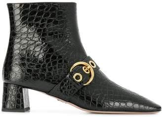 Prada buckled crocodile boots
