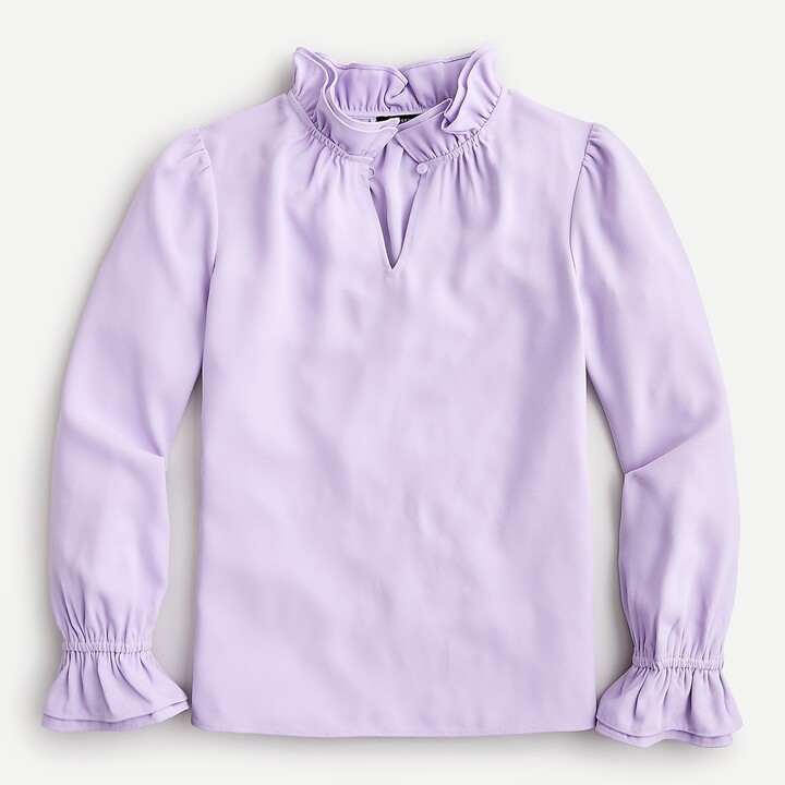 Thumbnail for your product : J.Crew Ruffleneck top in 365 crepe