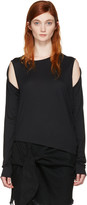 MM6 MAISON MARGIELA Black Convertible T-shirt