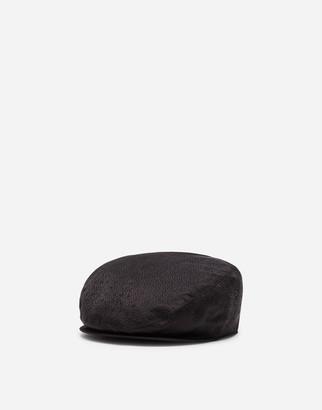 Dolce & Gabbana Silk Jacquard Flat Cap