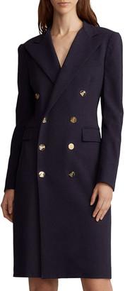 Ralph Lauren Wellesley Double-Breasted Wool Coat Dress