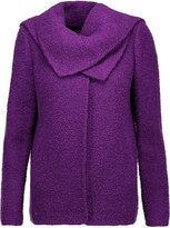 Oscar de la Renta Draped wool and alpaca-blend jacket