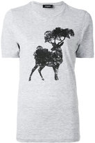 DSQUARED2 elk tree print t-shirt - women - Cotton/Viscose - XS