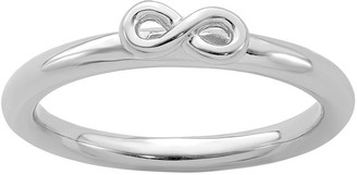 Simply Stacks Simple Stacks Sterling Infinity Band Ring