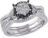 Ice Julie Leah 2/3 CT TW Diamond 10K White Gold Bridal Set