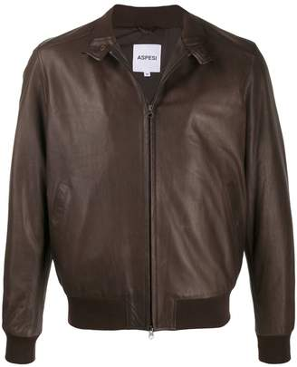 Aspesi zipped leather jacket